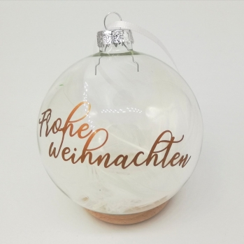 Christbaumkugel Glas groß